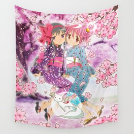 Madoka and Homura Wall Tapestry