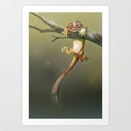 Gecko Correlophus Ciliatus Art Print
