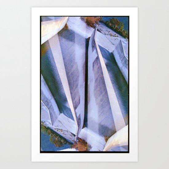 LA River2 (35mm multi exposure) Art Print