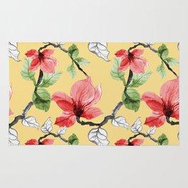Flower painting pattern Rug