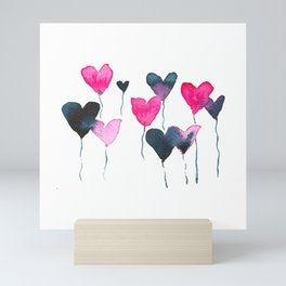 Heart felt balloons Mini Art Print