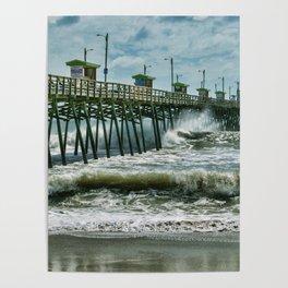 Surge Under The Pier Poster