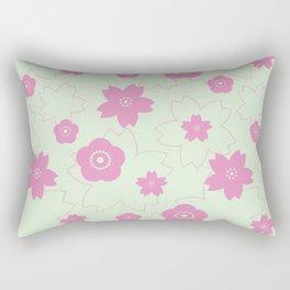 Sakura blossom - spring green Rectangular Pillow