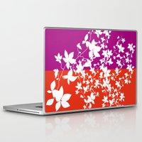 climbing Laptop & iPad Skins featuring Climbing Flowers by Mari Biro
