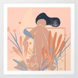 Abstract Flower Girl Art Print