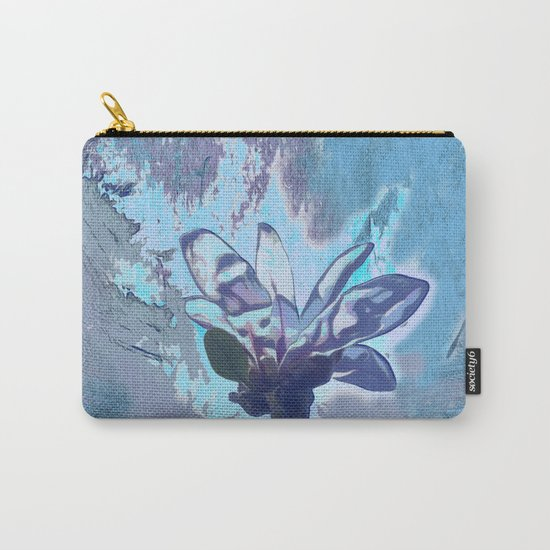 Blue flower fantasy Carry-All Pouch
