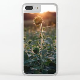 Almost Bloomed Clear iPhone Case
