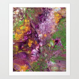 Abstract Floral Acrylic Painting Art Print