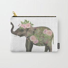 floral elephant Carry-All Pouch