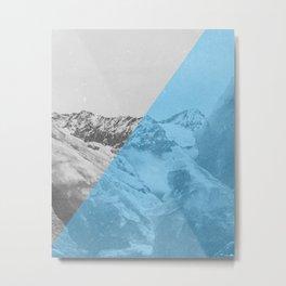 NEON NATURE | Blue Metal Print