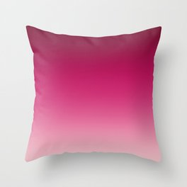 Millennial Pink Peacock Maroon Gradient Pattern Throw Pillow