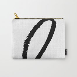 Letter O Ink Monogram Carry-All Pouch