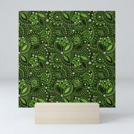 Scattering beads, green Mini Art Print