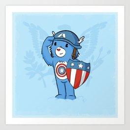 Captain  Americare Art Print