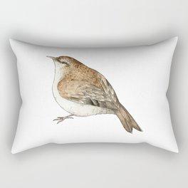 Tree Creeper Bird Illustration Rectangular Pillow