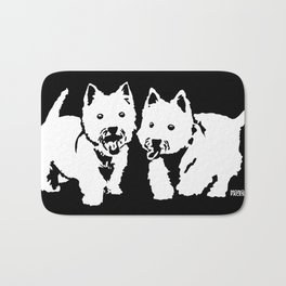 "West Highland Terrier ""The Westie"" Man's Best Friend Bath Mat"