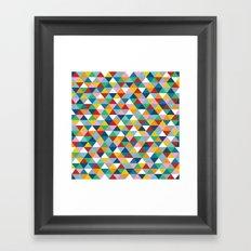 Triangles of Colour Framed Art Print
