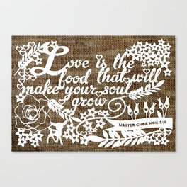 Love is the Food Canvas Print