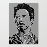 tony stark Canvas Prints featuring Tony Stark by Hazel