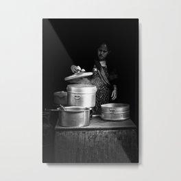 Cooking in Kathmandu, Nepal Metal Print