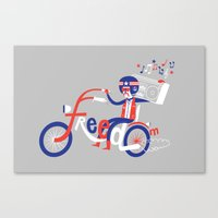 freedom Canvas Prints featuring Freedom by Wharton