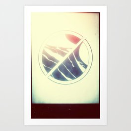 Split Circle Art Print