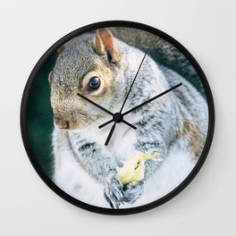 Squirrely Snacks Wall Clock