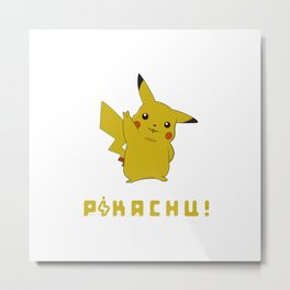 P!kachu the Electric Rat Metal Print