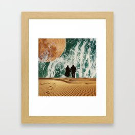 I LOVE YOU TO THE MOON AND BACK #society6 Framed Art Print