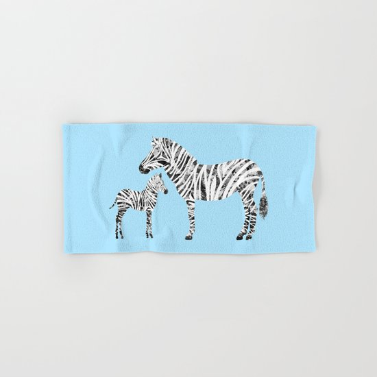 Patchwork Zebras Hand & Bath Towel