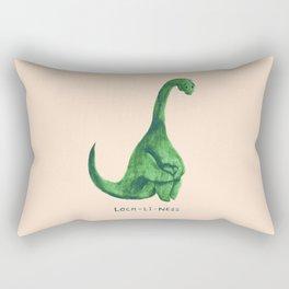 Lonely loch ness monster (loch-li-ness) Rectangular Pillow