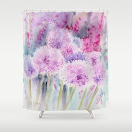 Alliums and Foxgloves Shower Curtain