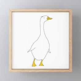 the duck Framed Mini Art Print