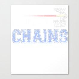 Bangin Chains Disc Golf Distressed Canvas Print
