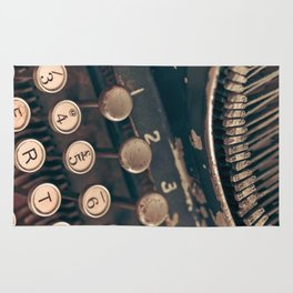Vintage Typewriter - Macro Photography #Society6 Rug