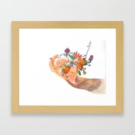 when that hand bursts into flowers Framed Art Print