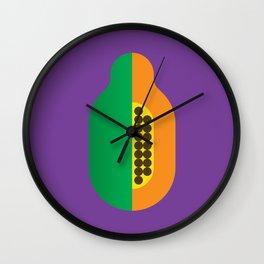 Fruit: Papaya Wall Clock