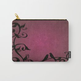 Magenta Grunge Vines Carry-All Pouch