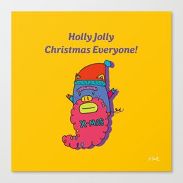 piggy santa Canvas Print