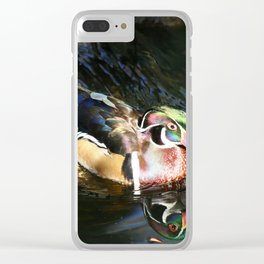 Beautiful Wood Duck Clear iPhone Case