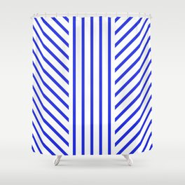 Lined Blue Shower Curtain