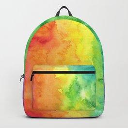 Watercolor Rainbow Stripe Backpack