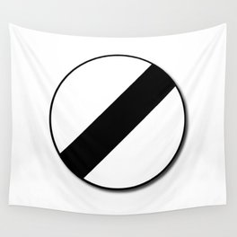 Derestriction Traffic Sign Wall Tapestry