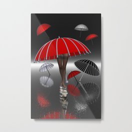 keep your balance when the rain is coming Metal Print