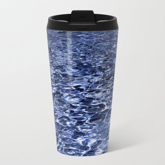 water and ripples Metal Travel Mug