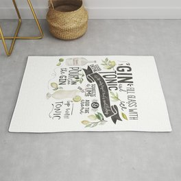 Gin Tonic Recipe In Watercolor Rug