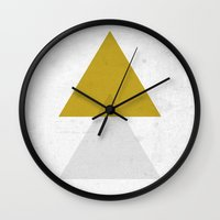 triangles Wall Clocks featuring Triangles by Nan Lawson