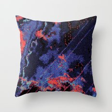 Glitch Cartography #1 Throw Pillow