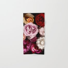 Red, White, Yellow, and Pink Roses Hand & Bath Towel