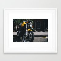 ducati Framed Art Prints featuring Ducati Motorcycle by bill bill